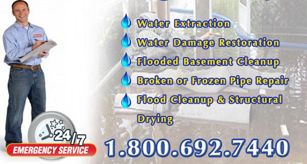cleanup and drying for basement floods in Troy, Illinois